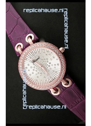 Chopard Xtravaganza Ladies Ladies Japanese Replica Rose Gold Watch in White Dial