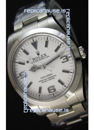 Rolex Explorer I 214270 White Dial - The Ultimate Best Edition Swiss Replica Watch