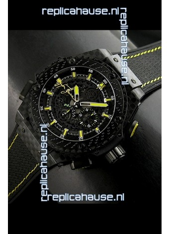 Hublot Big Bang Ayrton Senna Full Carbon Casing Swiss Watch