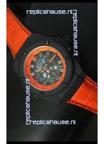 Hublot Big Bang Volcano Skeleton Swiss Quartz Watch 45MM