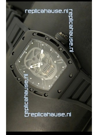 Richard Mille RM052 Skull Tourbillon Swiss Replica Watch in PVD Case
