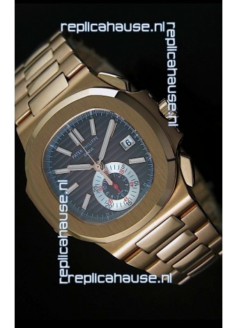 Patek Philippe Nautilus 5980 Chronograph Swiss Pink Gold Watch - 1:1 Mirror Replica