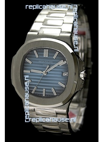 Patek Philippe Nautilus Jumbo Swiss Replica Watch in Blue Dial