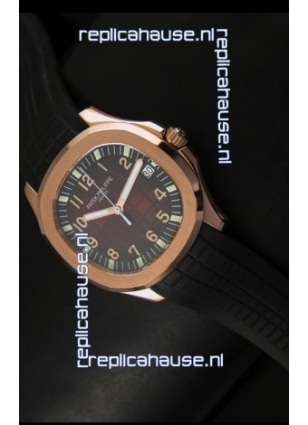 Patek Philippe Aquanaut Rose Gold in Brown Dial Watch - 1:1 Mirror Replica
