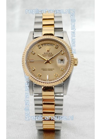 Rolex Day Date Two Tone Japanese Replica Watch