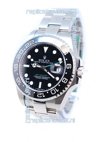 Rolex GMT Masters II 2011 Edition Swiss Replica Watch in Cerarmic Bezel