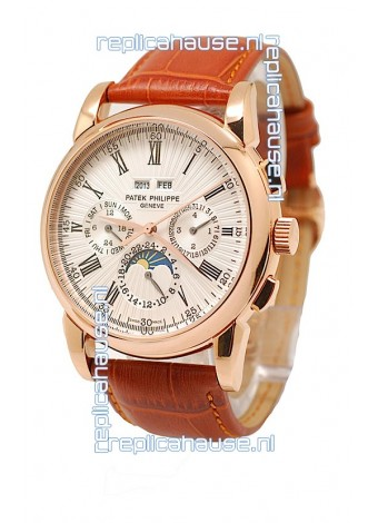 Patek Philippe Grand Complications Japanese Watch in White Dial