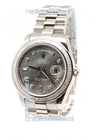 Rolex DayDate Swiss Replica Watch in Pearl Dial