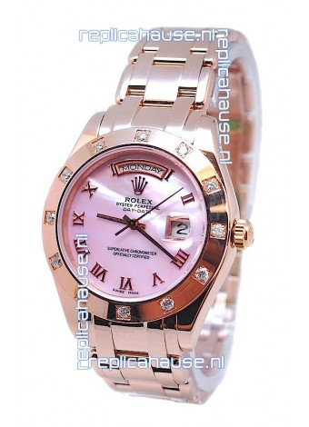 Rolex Day Date Pink Mother of Pearl Swiss Replica Watch