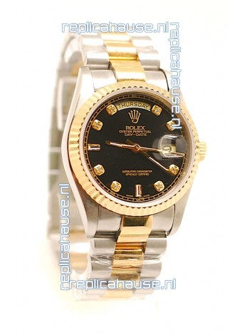 Rolex Day Date Two Tone Swiss Replica Watch
