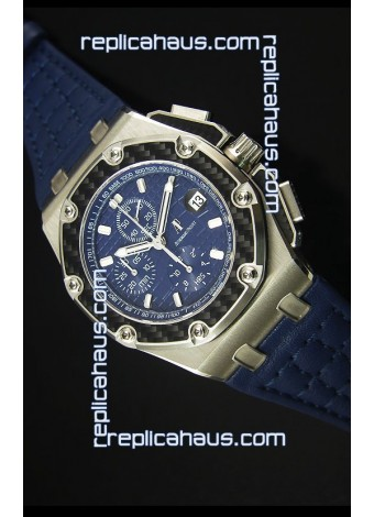Audemars Piguet Royal Oak Offshore Juan Pablo Montoya Swiss Watch 3120 Movement Blue Dial - 1:1 Mirror
