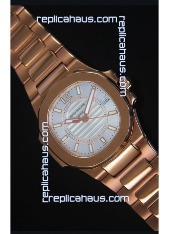 Patek Philippe Ladies Nautilus Rose Gold Watch 36MM