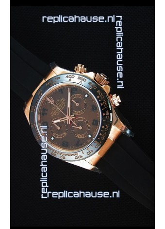 Rolex Daytona 116515 Everose 1:1 Mirror Replica Rose Gold Brown Dial Watch