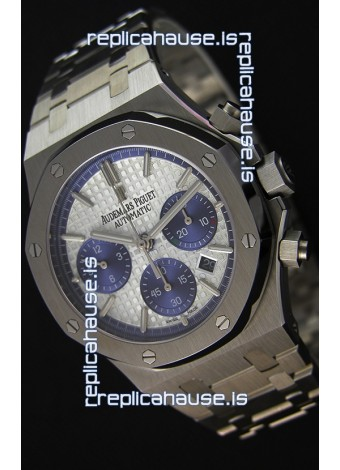 Audemars Piguet Royal Oak Chronograph White Dial Steel Strap Swiss Replica Watch