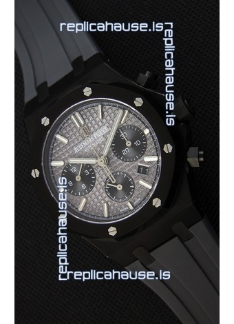 Audemars Piguet Royal Oak Chronograph Slate Grey Dial Rubber Strap PVD Case Swiss Replica Watch