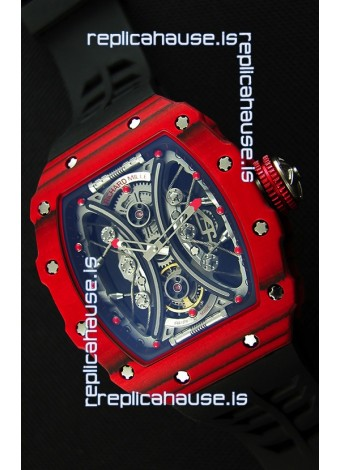 Richard Mille RM53-01 Pablo Mac Donough Red Carbon Case Swiss Replica Watch