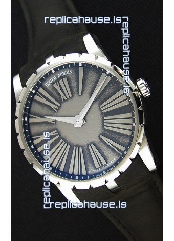 Roger Dubuis Excalibur Steel Case Grey Dial Swiss Replica Watch