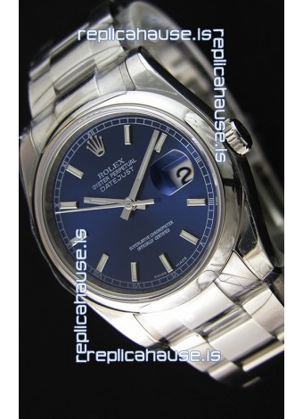 Rolex Datejust 36MM Cal.3135 Movement Swiss Replica Blue Dial Oyster Strap - Ultimate 904L Steel Watch