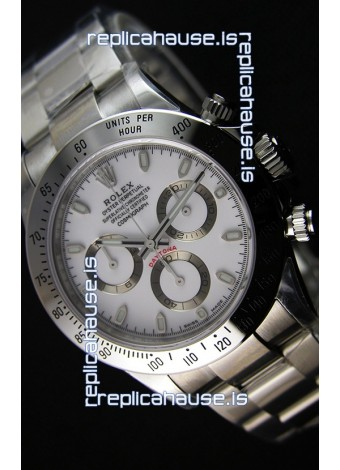 Rolex Cosmograph Daytona 116520 White Dial Original Cal.4130 Movement - Ultimate 904L Steel Watch