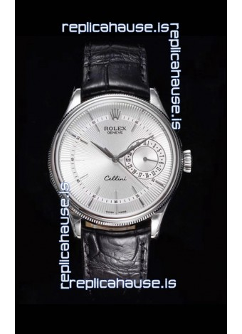 Rolex Cellini Date Ref#50519 Replica 1:1 Mirror 904L Steel Watch White Dial