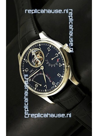 IWC Portugese Mystere TourbillonSwiss Replica Watch in Black Dial