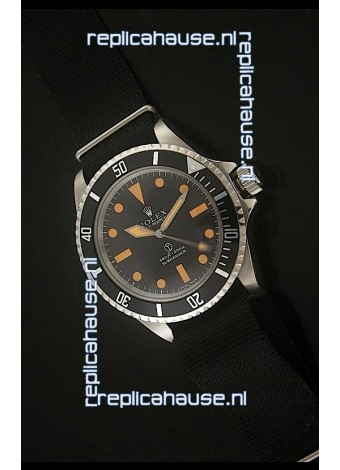 Rolex Vintage Submariner Japanese Replica Watch in Orange Markers