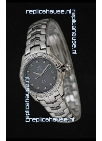 Tag Heuer Link Swiss Ladies Watch in Mother of Pearl Grey Dial