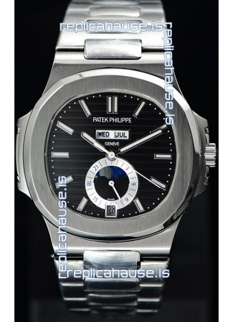 Patek Philippe Nautilus 5726A 1:1 Mirror Swiss Watch Black Dial