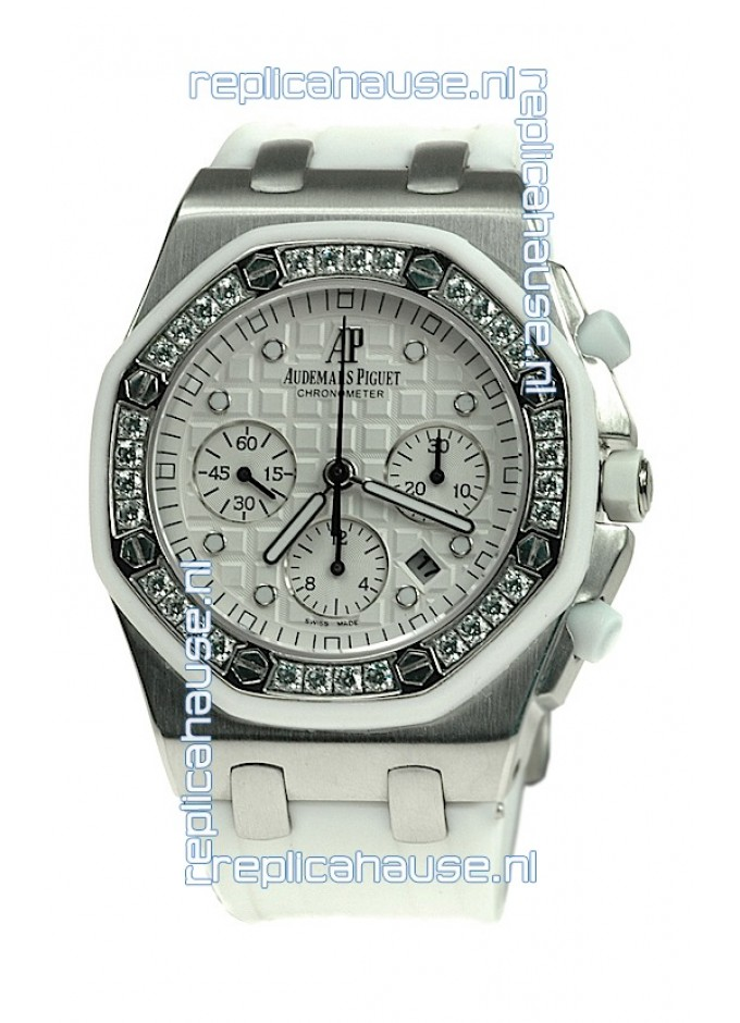 cfc295d9bf8 Audemars Piguet Royal Oak Offshore Lady Alinghi Limited Edition Swiss  Diamond Watch in White Dial