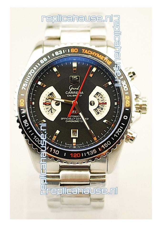 d9f3edb205e Tag Heuer Grand Carrera RS2 Japanese Replica Watch in Black Dial for ...