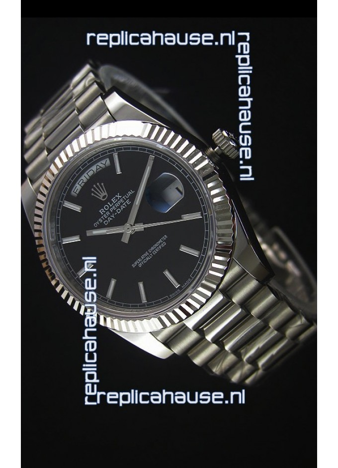 Rolex Day-Date Stainless Steel Replica Watch 40MM 2836-2 Swiss Movement ca8ded55fa0