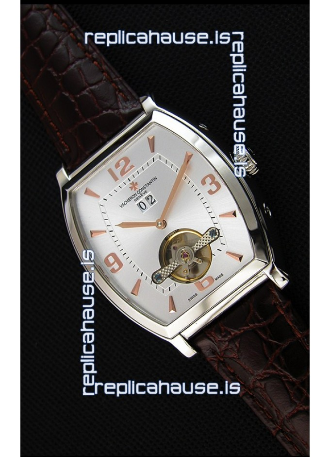 b992d801378 Vacheron Constantin Malte Japanese Tourbillon Replica Watch White Steel Dial