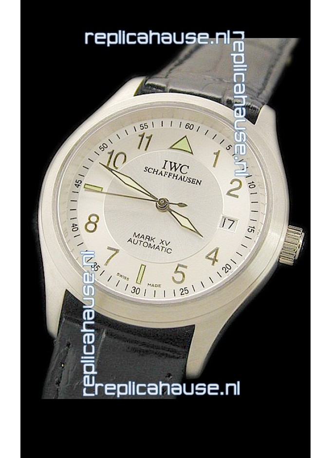 05aaafbd16b IWC Pilot MARK-XV Swiss Replica Watch in White Dial for just 499 USD
