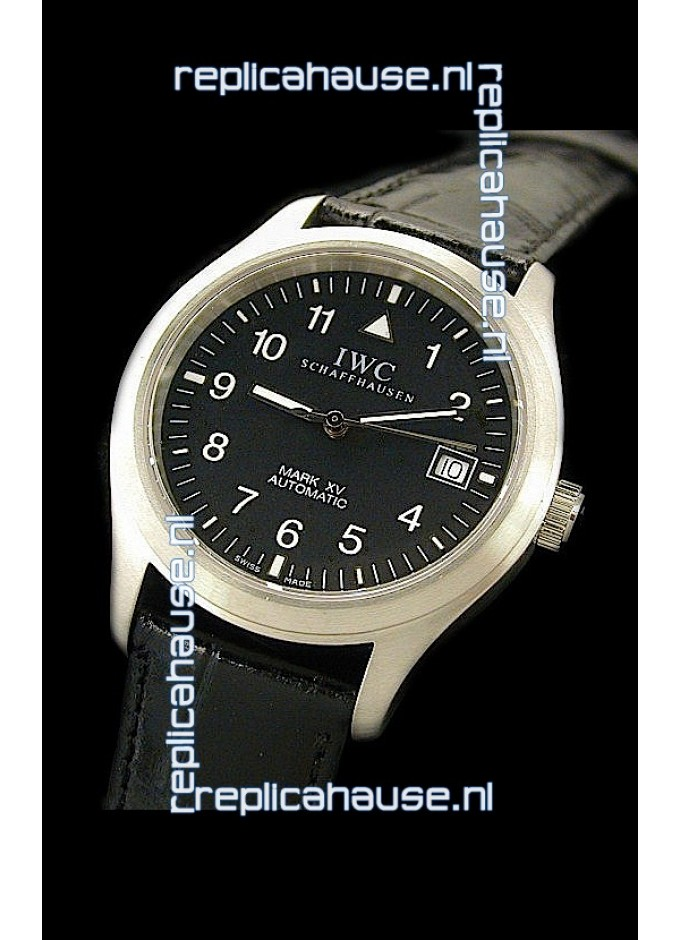 5981031b856 IWC Pilot MARK-XV Swiss Replica Watch in Black for just 499 USD