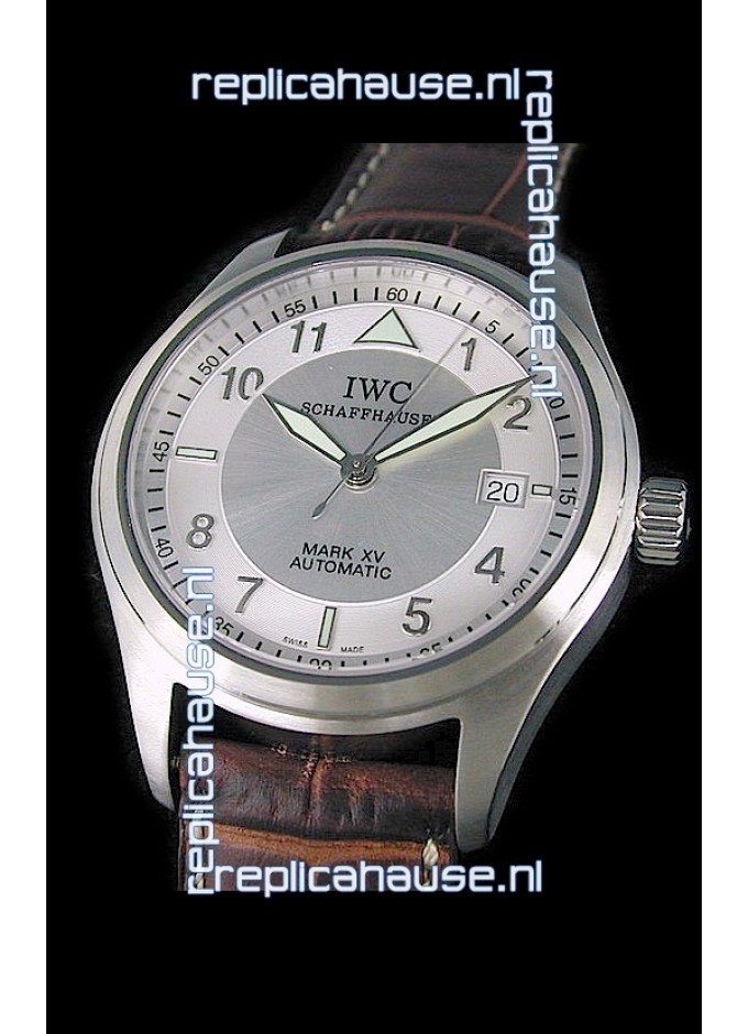 9668e340cb4 IWC Pilot MARK-XV Swiss Replica Watch in Silver Dial for just 499 USD