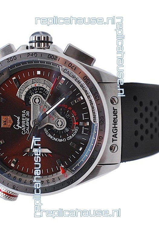 0ce1c1d03aa Tag Heuer Grand Carrera Calibre 36 Japanese Automatic Watch in Rubber Strap