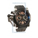 Graham Chronofighter Oversize Diver Swiss Watch in Orange Markers