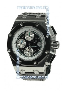 Audemars Piguet Royal Oak Offshore Rubens Barrichello Limited Edition Swiss Watch in Black Dial