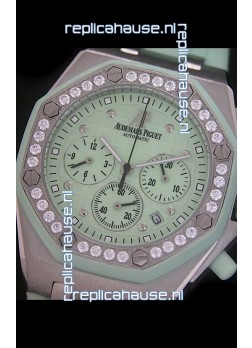 Audemars Piguet Royal Oak Offshore Lady Alinghi Swiss Watch in Light Green Dial