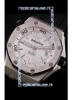 Audemars Piguet Royal Oak Scuba Swiss Watch in White Dial