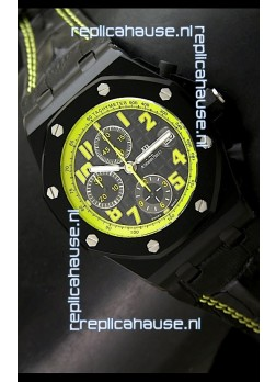Audemars Piguet Royal Oak Offshore Bumble Bee Edition Watch - Secs hands at 12 O Clock