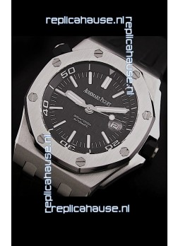 Audemars Piguet Royal Oak Scuba Swiss Watch in Black Dial