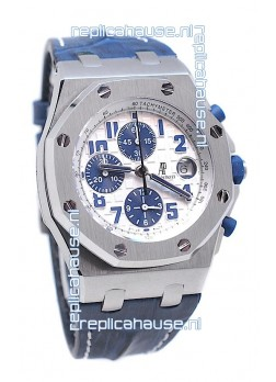 Audemars Piguet Royal Oak Offshore Navy Edition Swiss Watch in White Dial