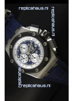 Audemars Piguet Royal Oak Offshore Rubens Barrichello Titanium Blue -  1:1 Mirror Replica