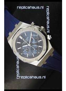 Audemars Piguet Royal Oak Chronograph Watch in Stainless Steel Case Blue Dial