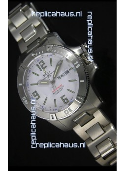 Ball Hydrocarbon Spacemaster Automatic Replica Day Date Watch in White Dial - Original Citizen Movement