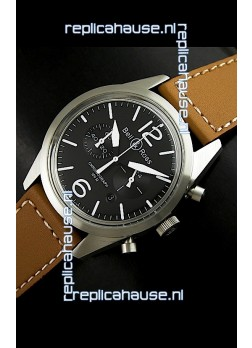 Bell and Ross BR126 Vintage Swiss Quartz Watch in Steel Case