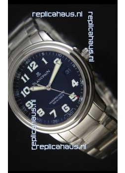 Blancpain Leman 2100 Military 100 Hours Watch in Black Dial - Original Citizen Movement