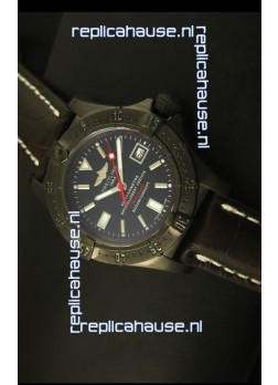 Breitling Seawolf PVD Coated Swiss Watch - Stick Markers