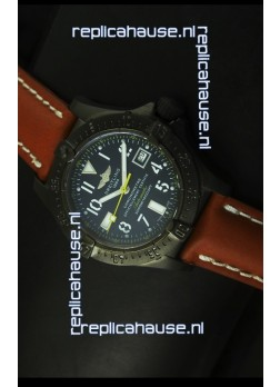 Breitling Seawolf PVD Coated Swiss Watch - Arabic Markers
